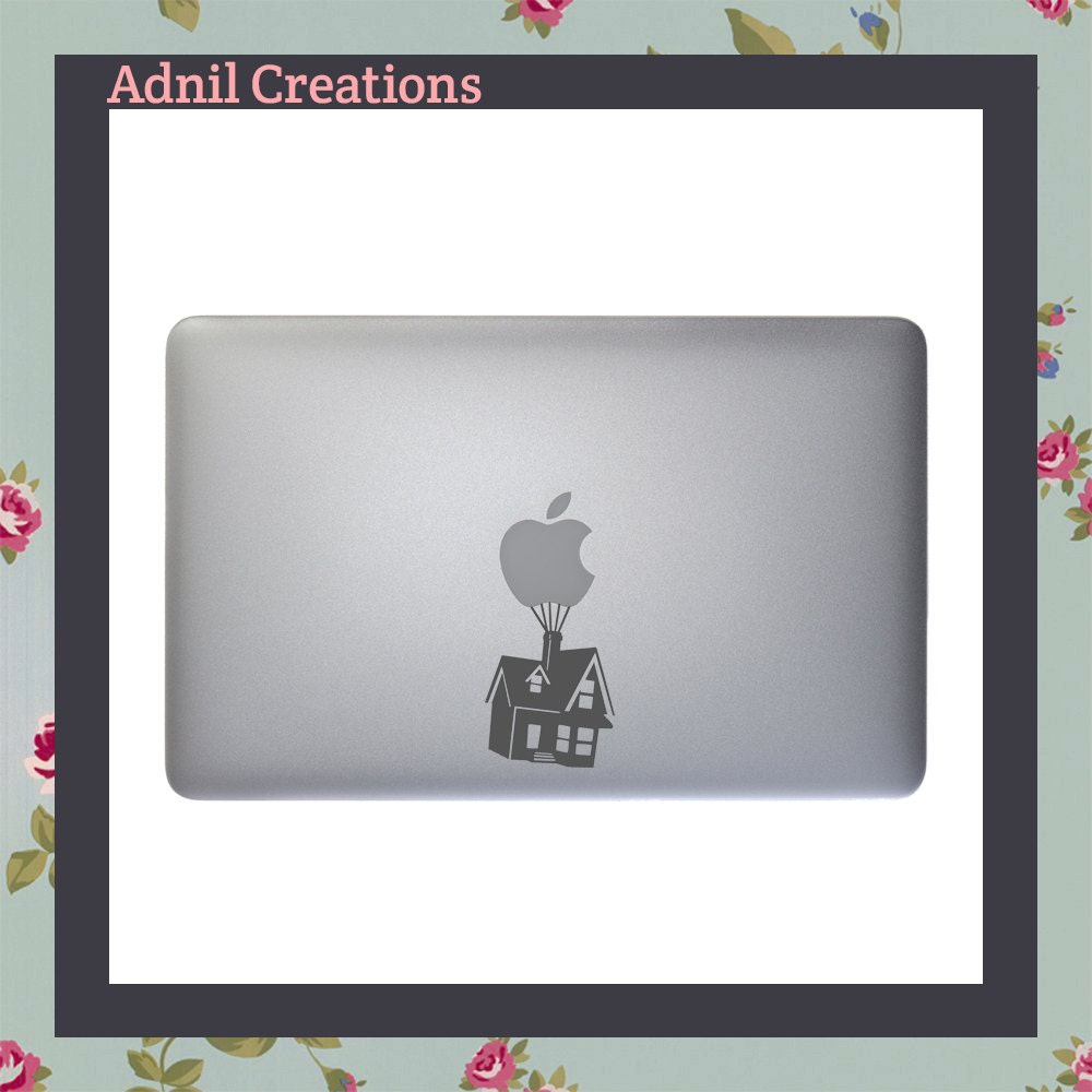 House floating up on balloons Macbook Decal Apple Macbook iPad and other laptop