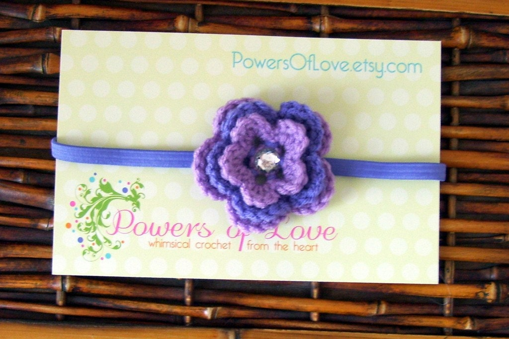 Purple Passion Flower Headband