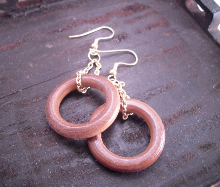 Wood Earrings II Free US Shipping