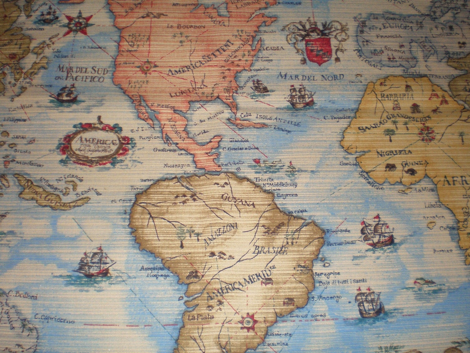 world map fabric yard images frompo