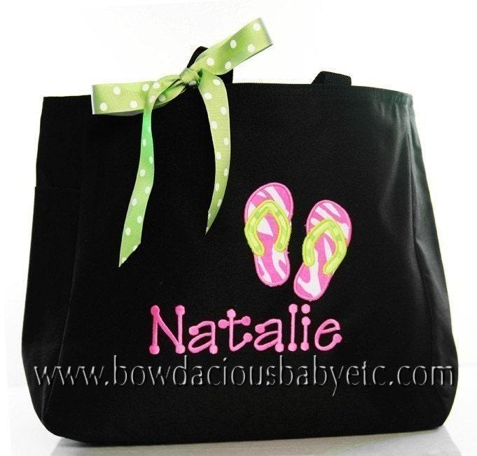 Swim Lesson Bag: Personalized Swim Tote Bag Girls Or Boys Custom By