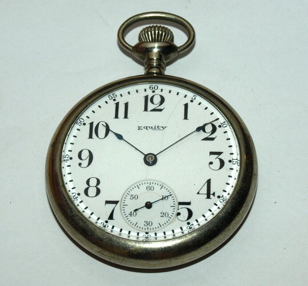 C.1865 Waltham - Equity Gentlemen's Pocket Watch -- Running Very Well --- Great Gift K800