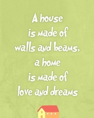 Our Home quote Art print living room decor wall art , gift for new home