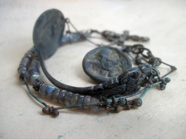 War Madrigals. Double Wrap Bracelet.