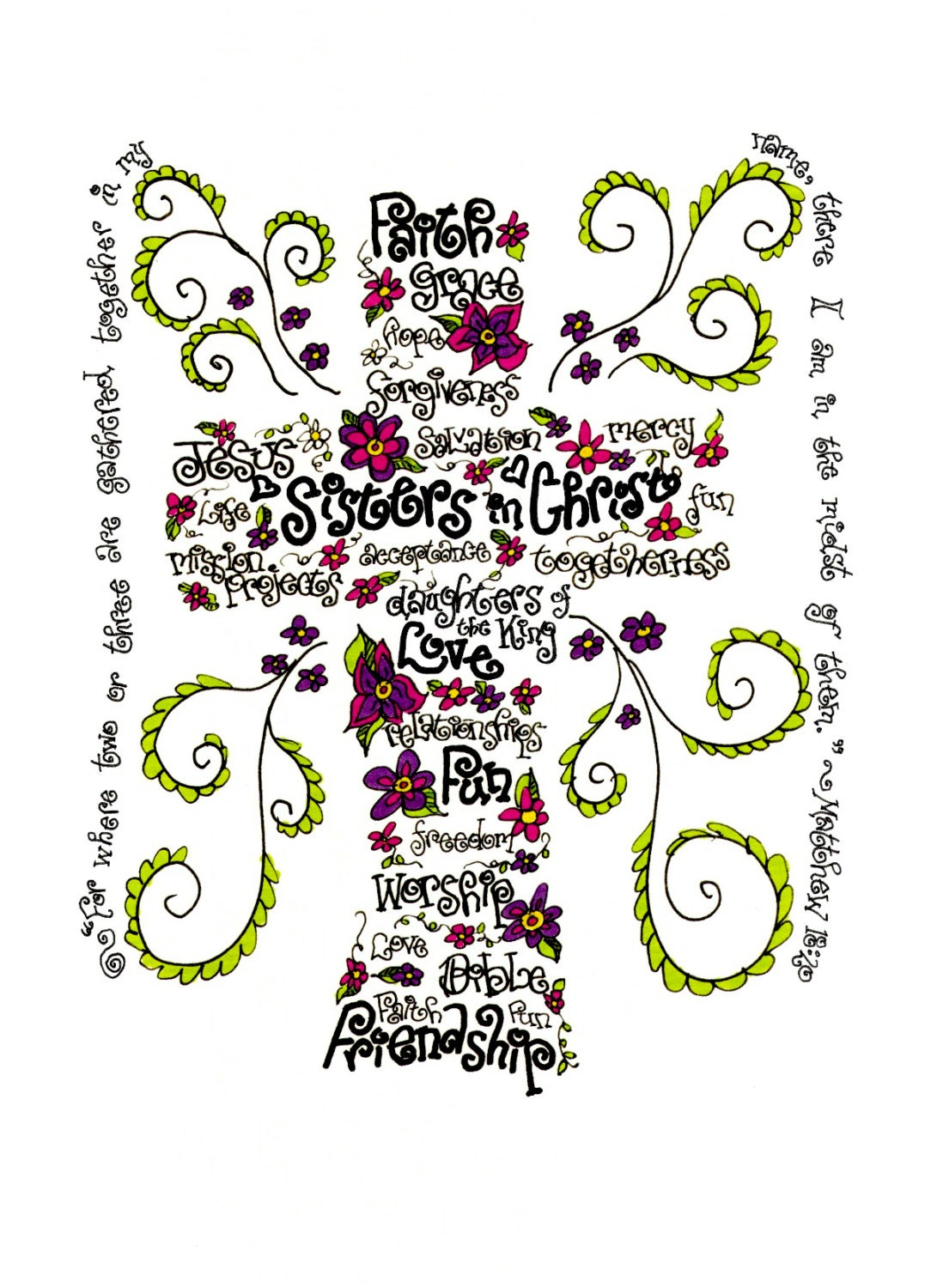 Displaying 18> Images For - Sisters Word Art...