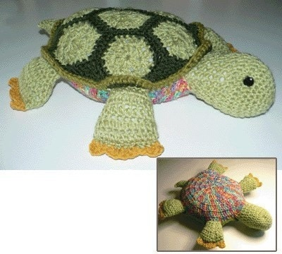 Turtle Afghan and Pillow Toy - FREE Crochet Patterns - Maggie's