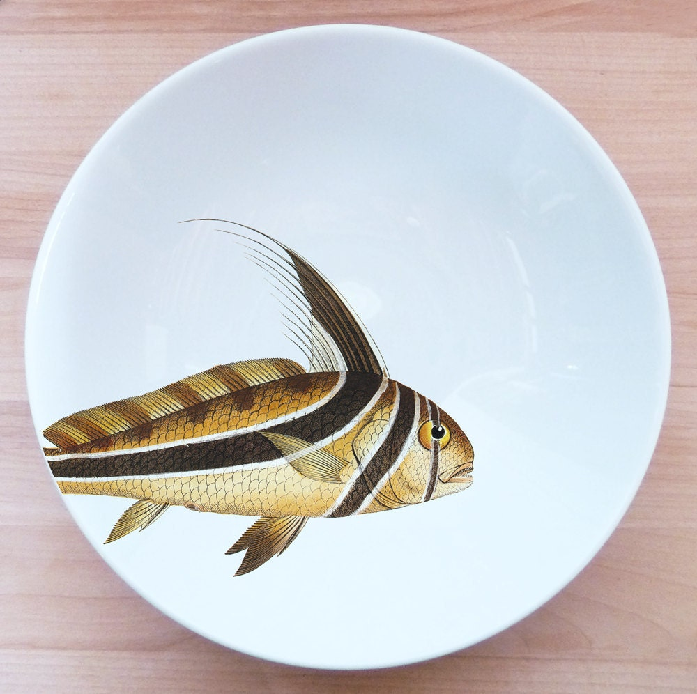 "fishy fish Pasta Bowl- ""poisson punk"" - milestonedecalart"