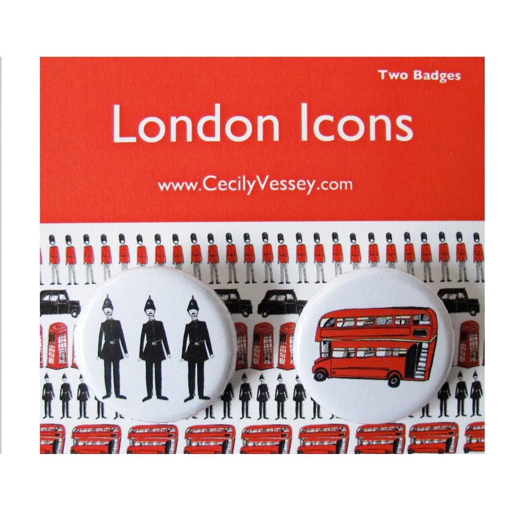 2 London Icon Badges