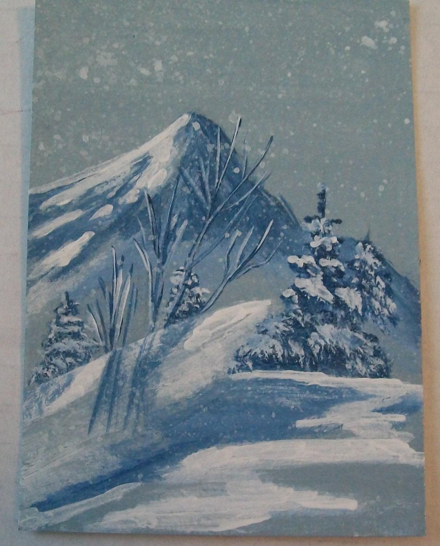 Silent Snowfall ACEO