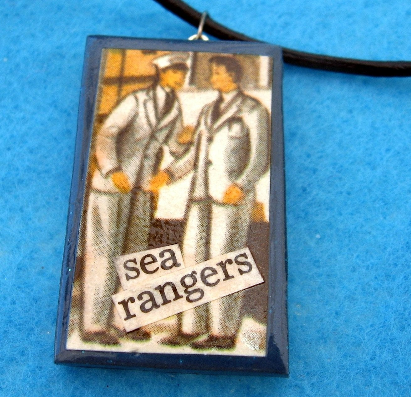 Sea Rangers pendant (on leather cord)