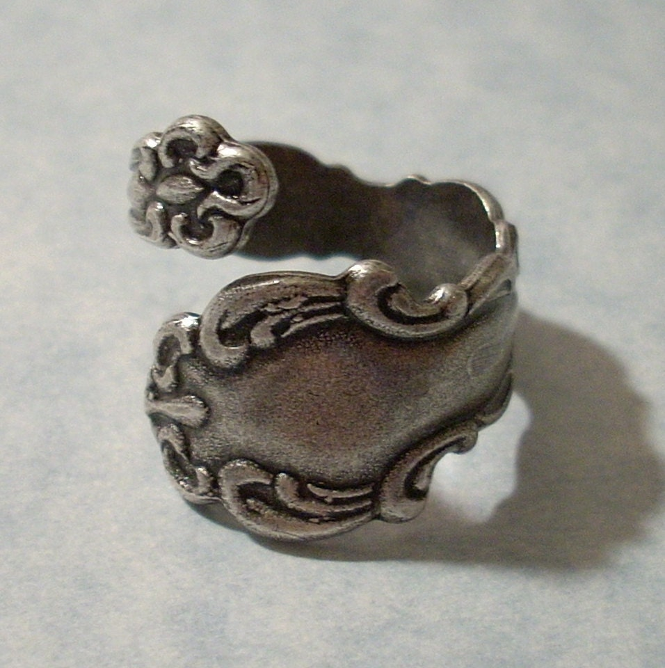 antique silver spoon ring by charmsgalore on etsy