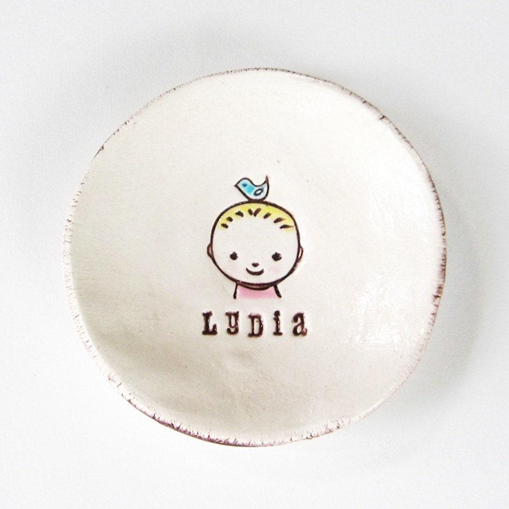 Custom Baby with Blue Bird Dish