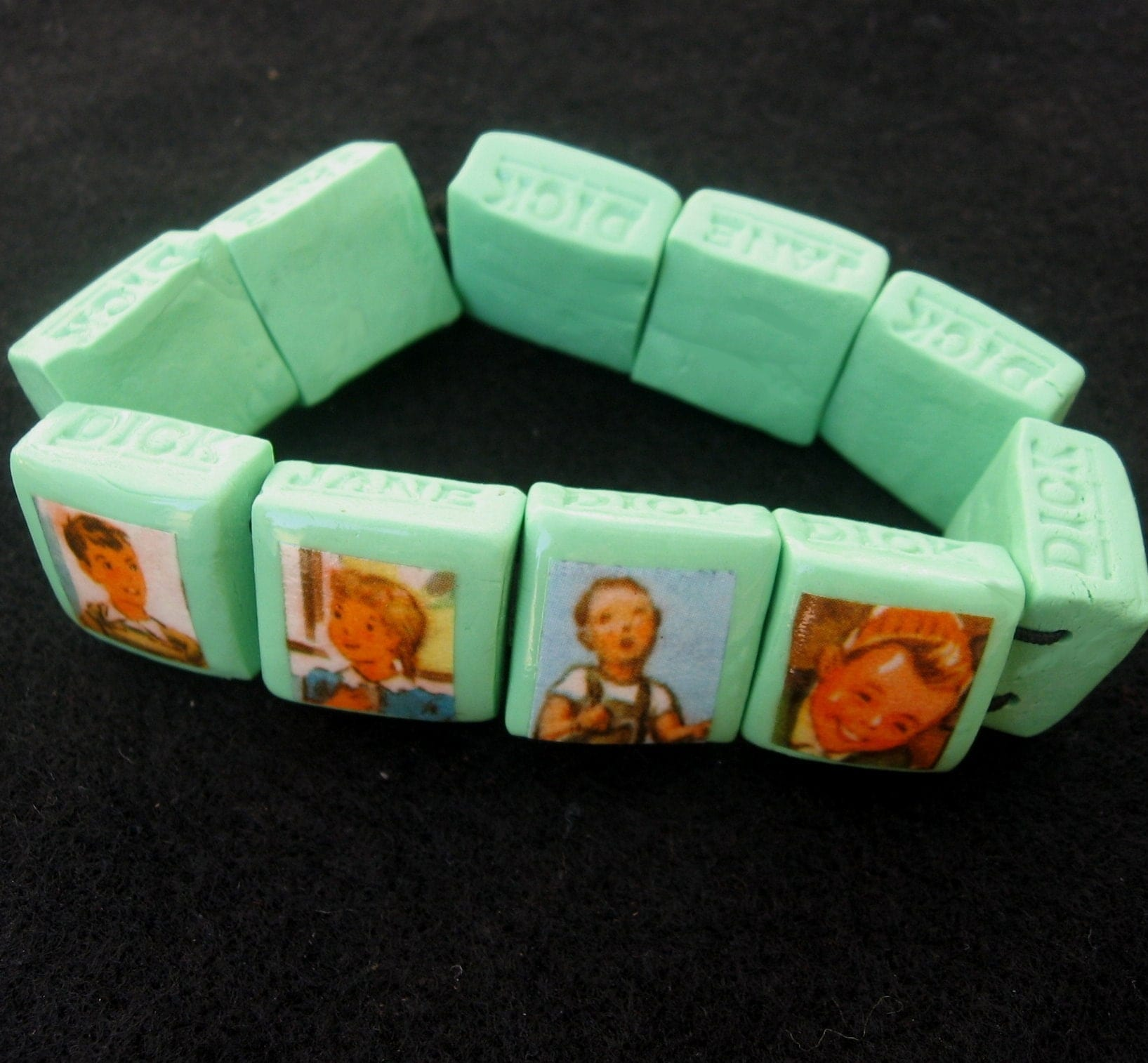 Retro school kids JANE DICK bracelet
