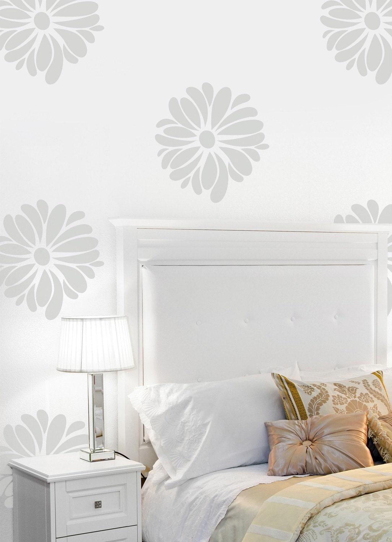 Vinyl Wall Sticker Decal Art - Pretty Flower Pattern