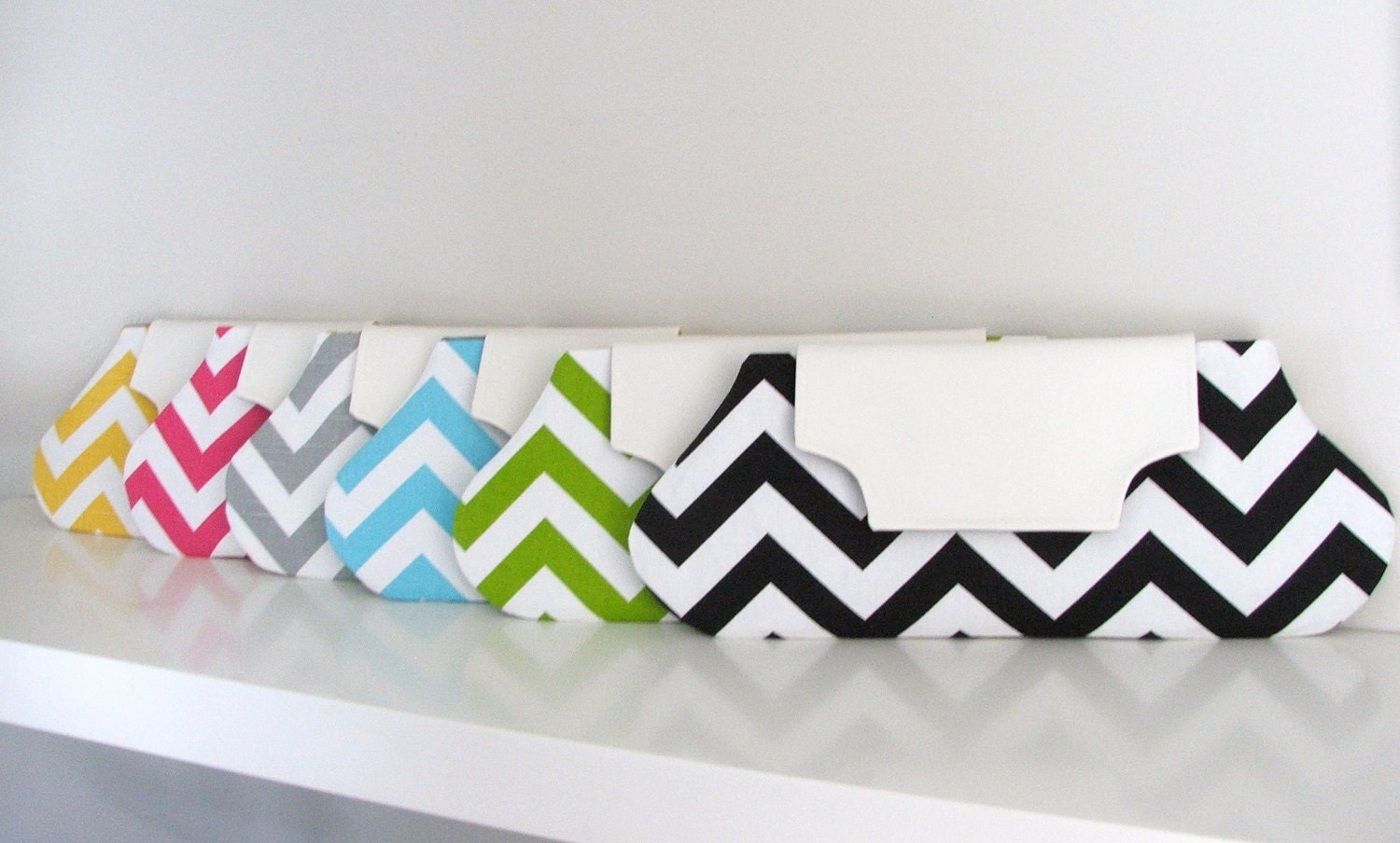Chevron oblong clutch-choose your color