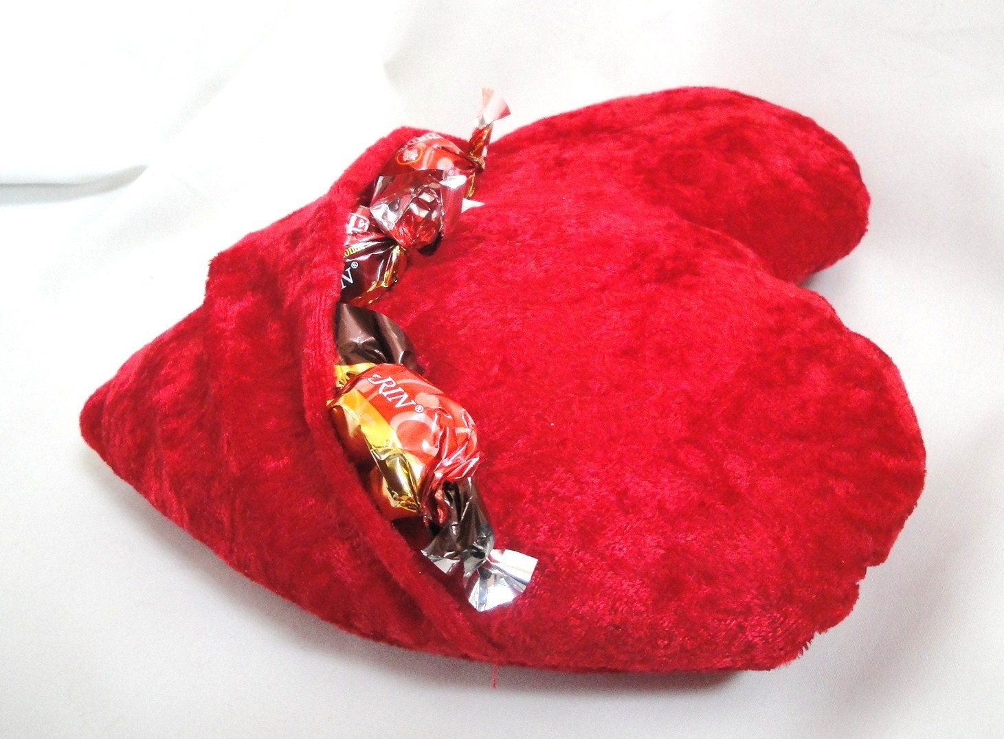 Large Valentine Red Heart with Pocket