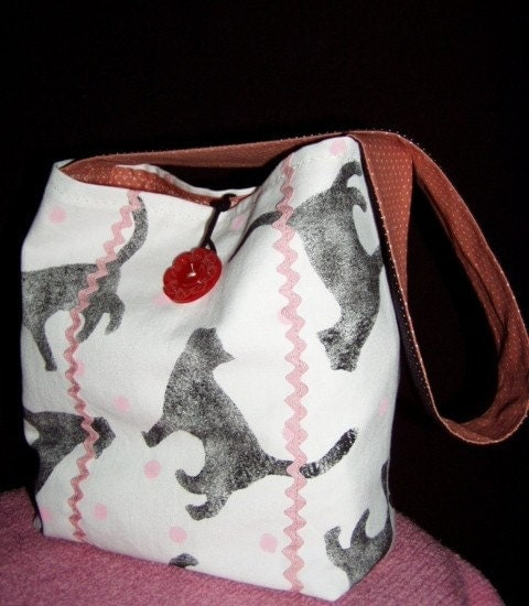 TOTE/Original Cat Print Fabric