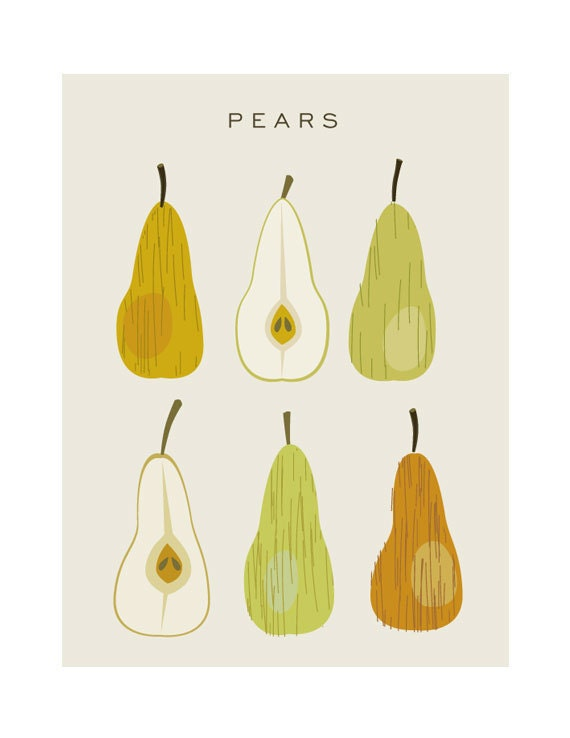 Pears - Original Illustrated Digital Image for Download