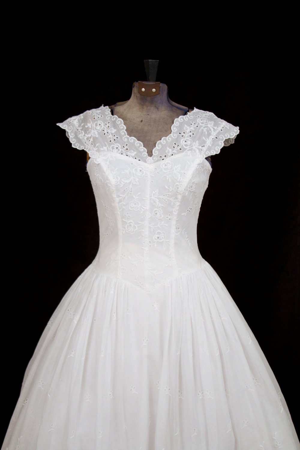 Unavailable listing on etsy for White cotton eyelet wedding dress