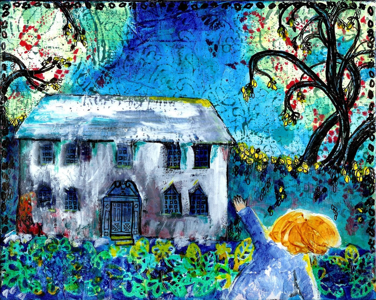Mixed Media  Print - Good-Bye House