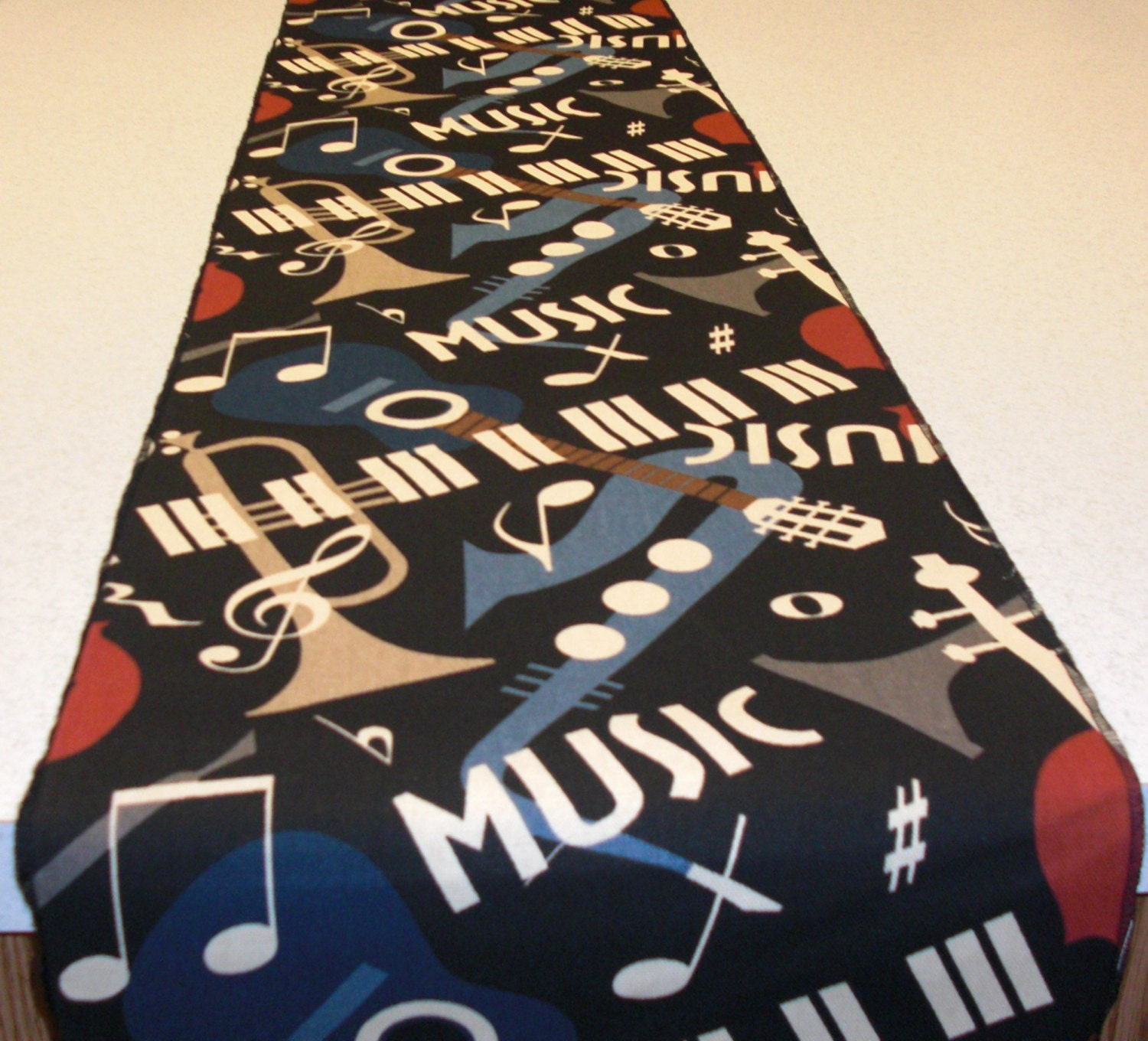 Music theme table runner by decorenmore on etsy for 85 inch table runner