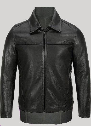 سطح صاف ژاکت چرمی کلاسیک -- سفارشی