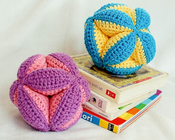 Crochet Clutch Pattern : Crochet Pattern - Baby Clutch Ball Toy (makes a great baby gift ...