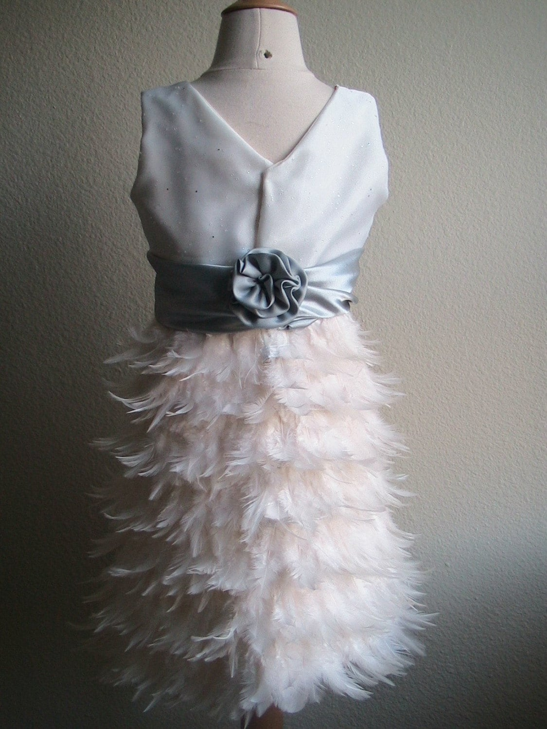 Ivory Feather Dress