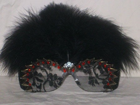 The Circus - Feather, Rhinestone, Lace and Spiked glasses