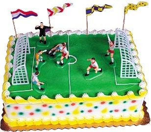 Soccer Cake Decoration Kit World Class
