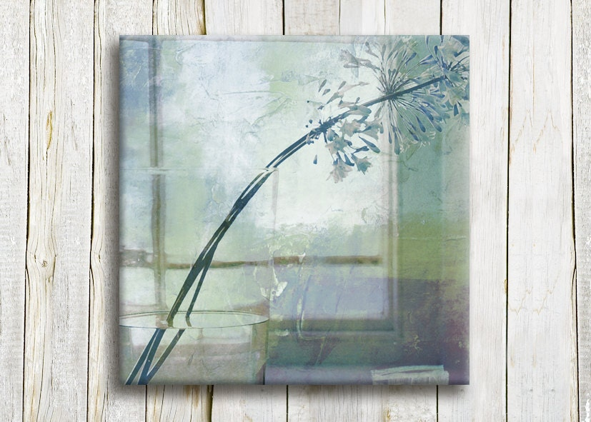 "Light blue Window view - mint Canvas art print, 12""/12"" - hayagold"