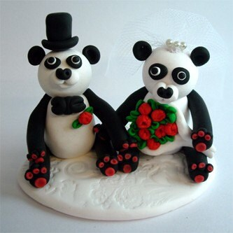 Panda  Wedding Topper