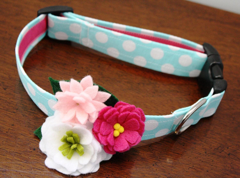 Happy Blooms Flower Dog Collar