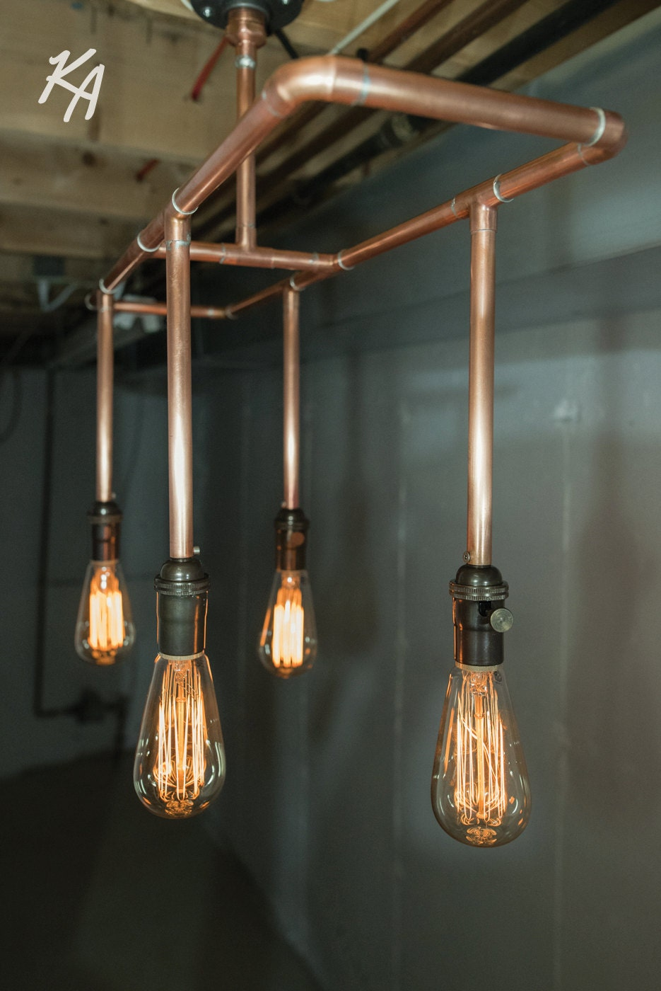 Sale Copper Pipe Light Fixture Copper By Kineticadditions