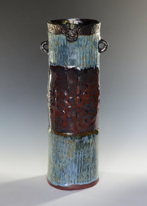 Pieced Textured Handbuilt Vase