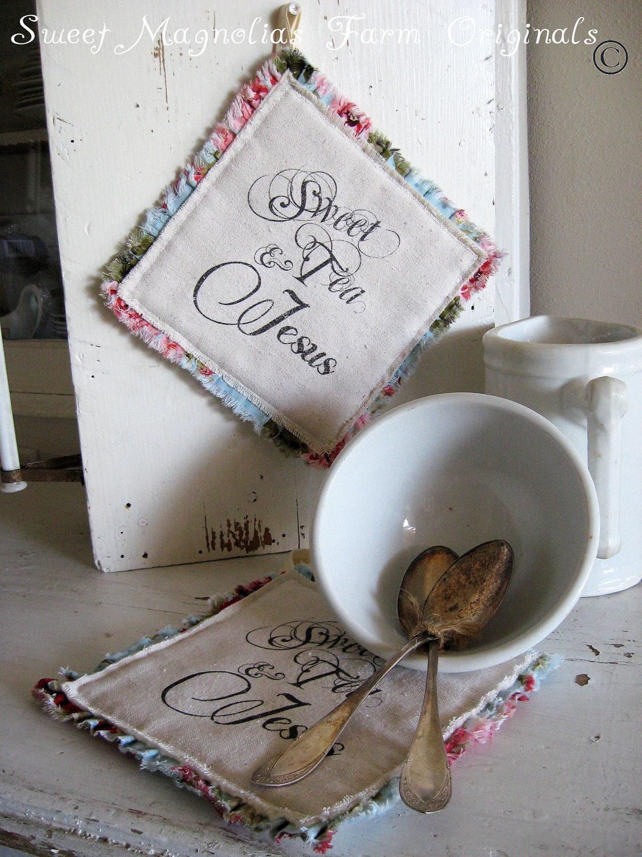 """Сельский дом Hotpad """"Sweet Tea и Иисус"""" - идеально подходит для барбекю ..  Стороны ....  и повседневного использования"""