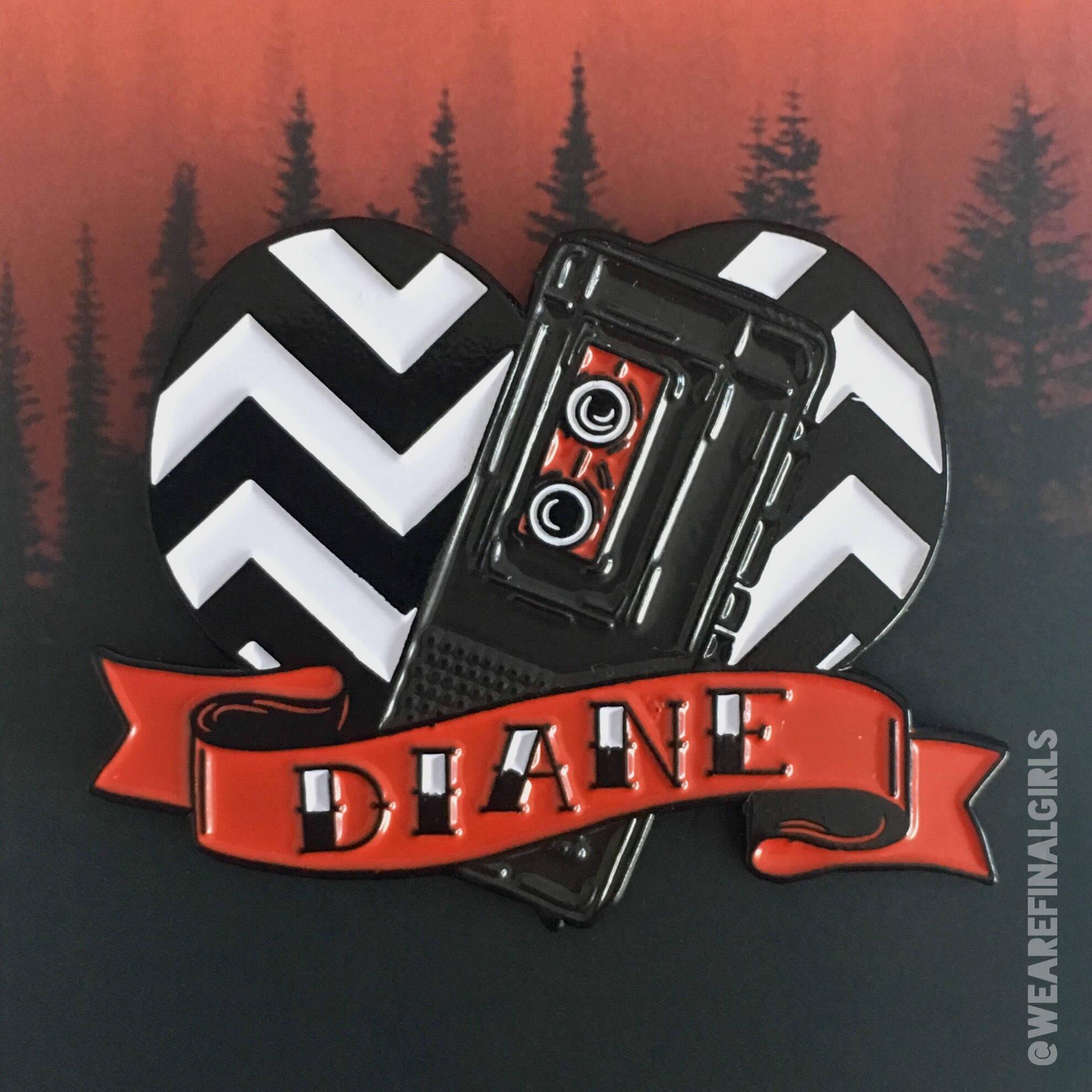 Twin Peaks Diane enamel pin