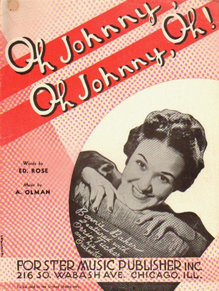 OH JOHNNY OH JOHNNY OH SHEET MUSIC