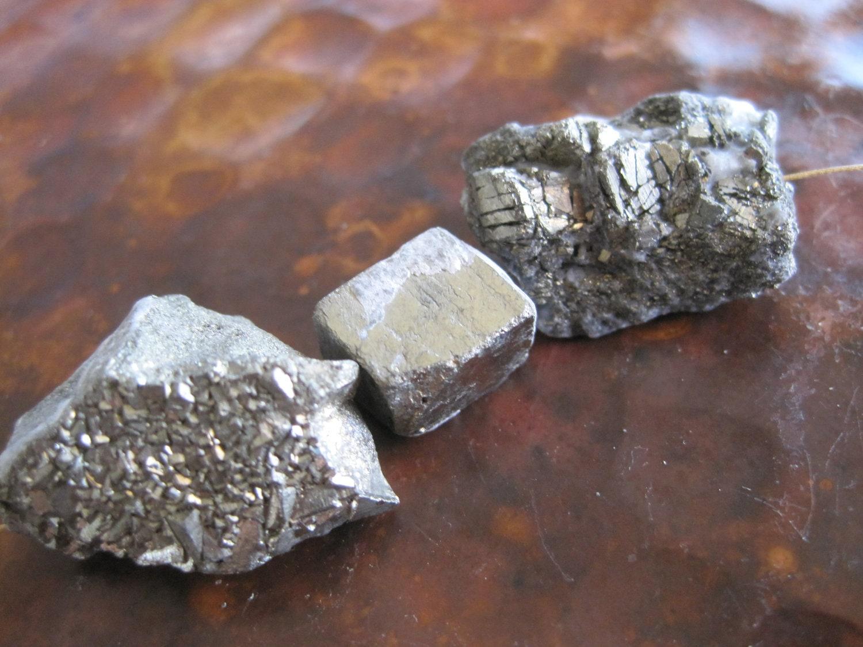 Rough Pyrite Beads Raw Natural Crystal by PamelasDesertRocks