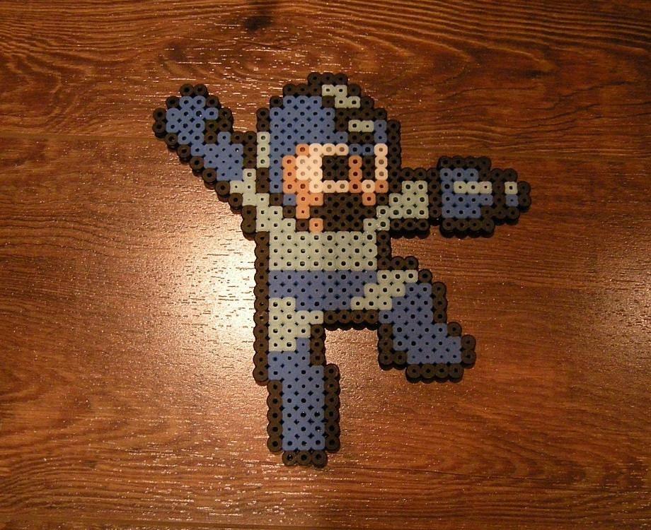 Perler Mega Man Decoration - ($4.5)