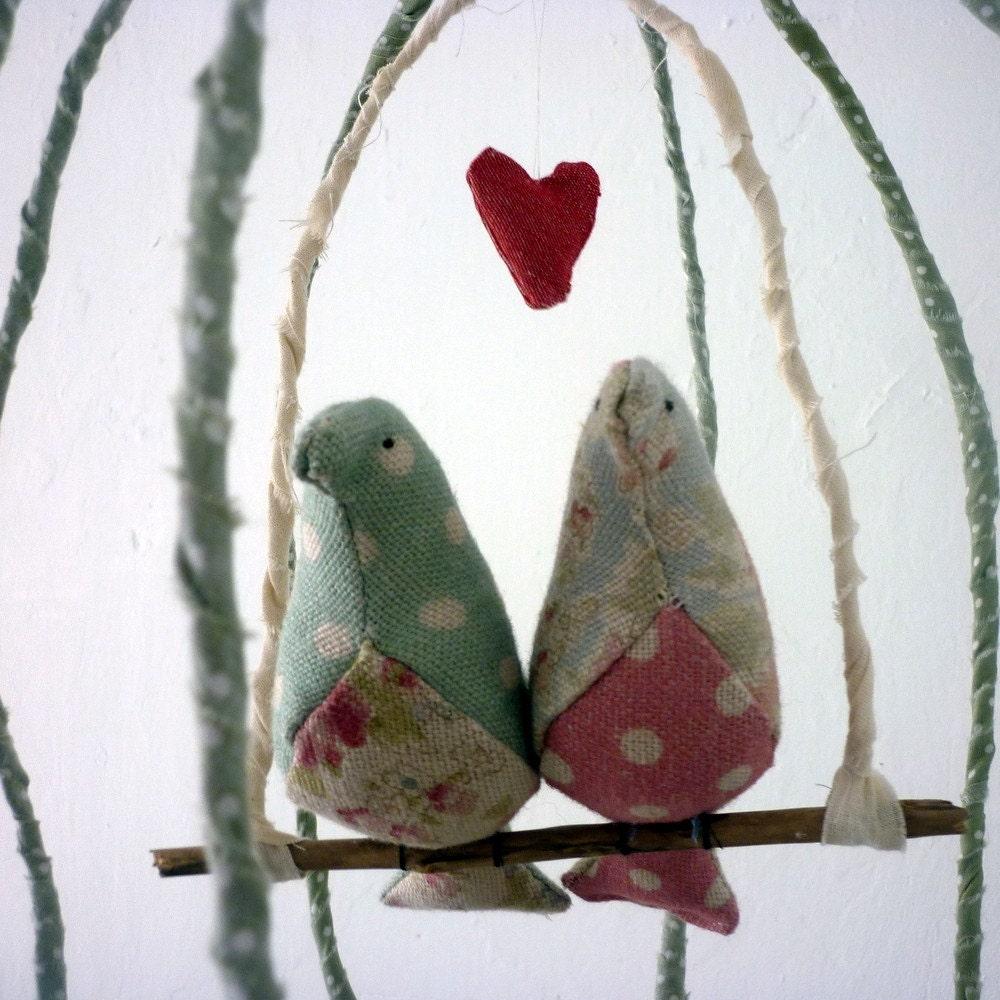 Ткань Lovebirds в Кейдж