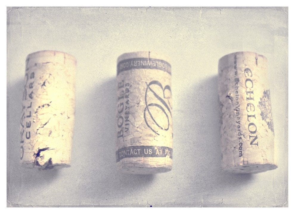 Vintage - 5x7 Original Wine Cork Kitchen Cuisine Home Decor Fine Art Photograph