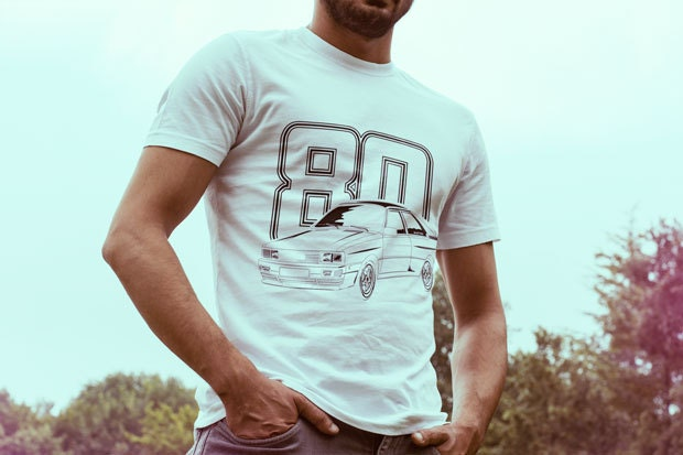 Audi Quattro 80 TShirt gift for Fathers Days