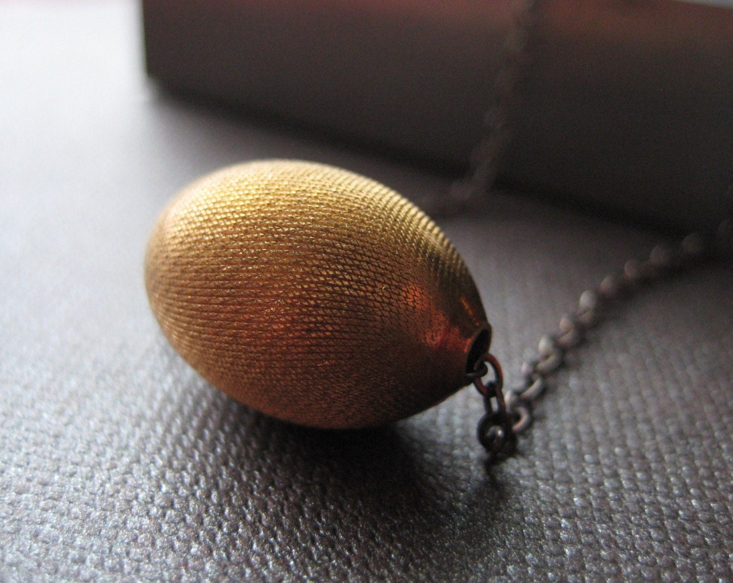 Vintage Brass and Oxidized Sterling necklace