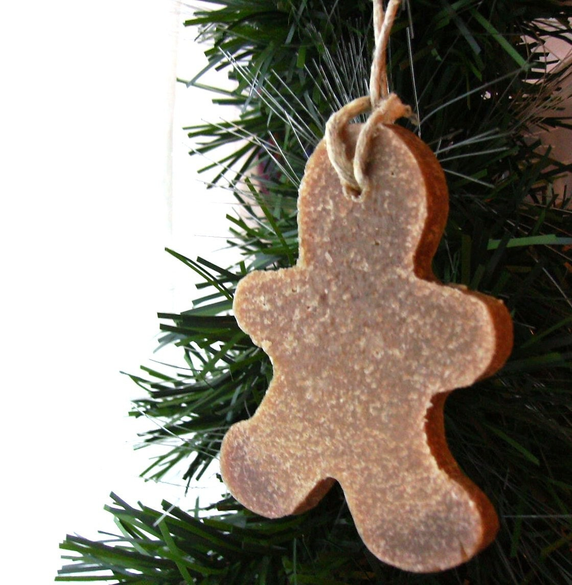 Six Gingerbread Men Soap on a Rope Ornaments Limited Quantity PreOrder Ships Nov 29th