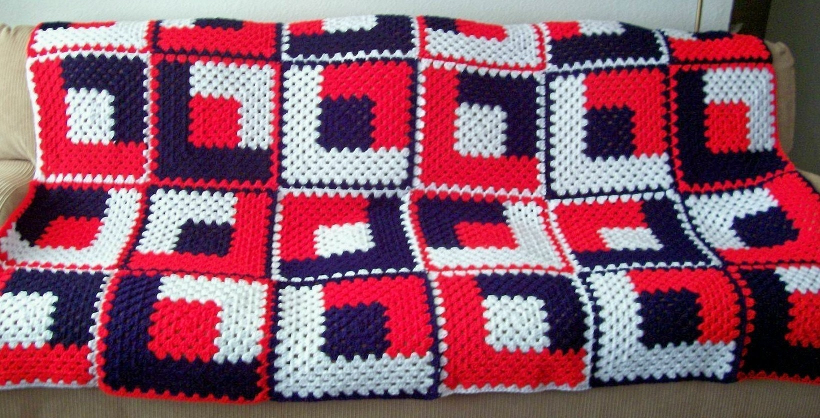 Crocheted Zig Zag Afghan | Free Vintage Crochet Patterns