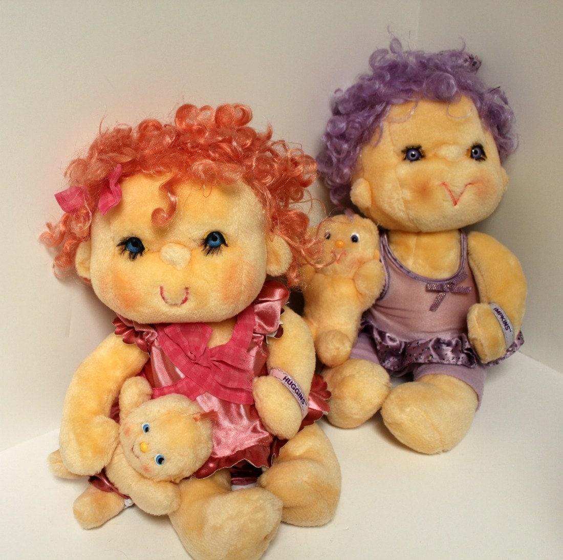 Vintage Hugga Bunch Dolls Huggins Impkins 1980s By