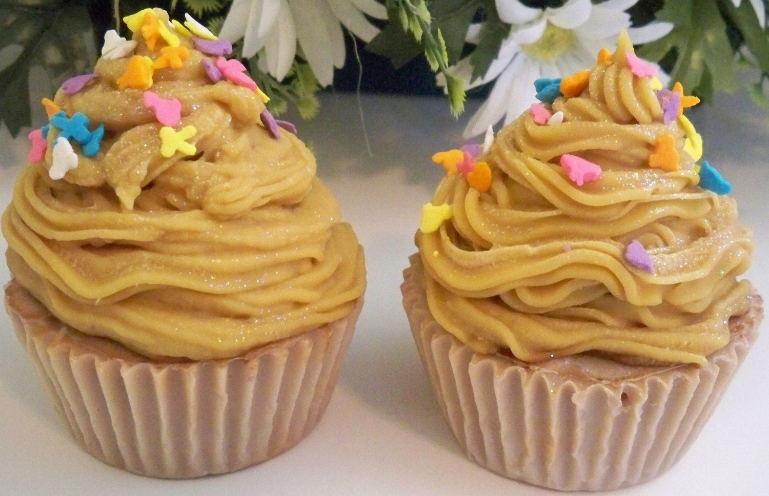 Set Of 2 Vanilla-Banana Cupcake Soaps