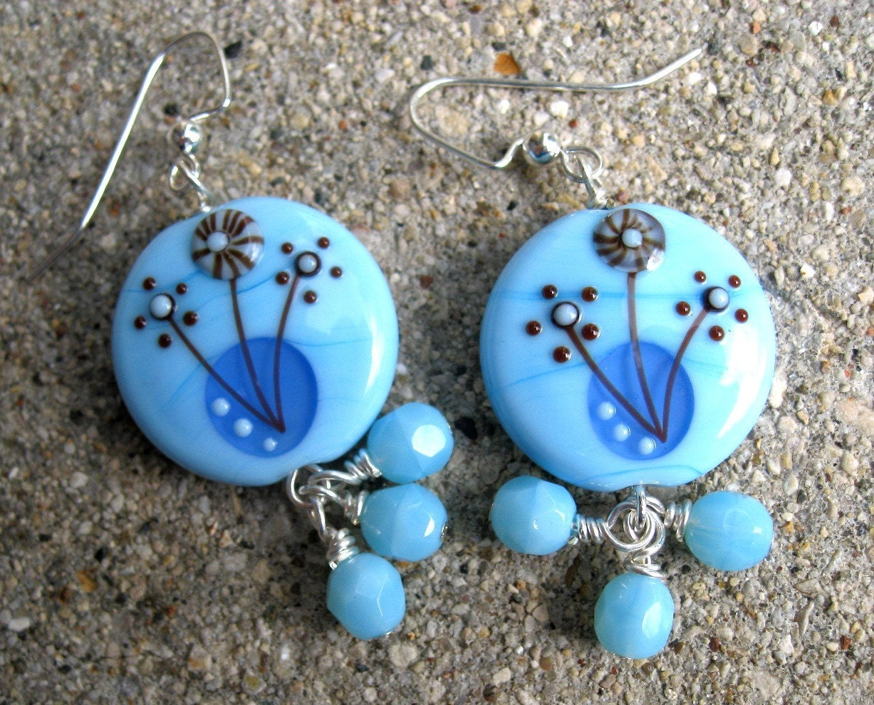 Blue Bloom Earrings