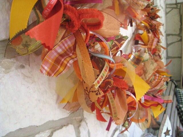 Fall Autumn Ribbon Garland